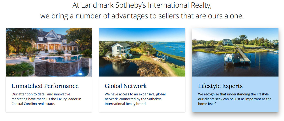 Landmark Sotheby's Card UI Design